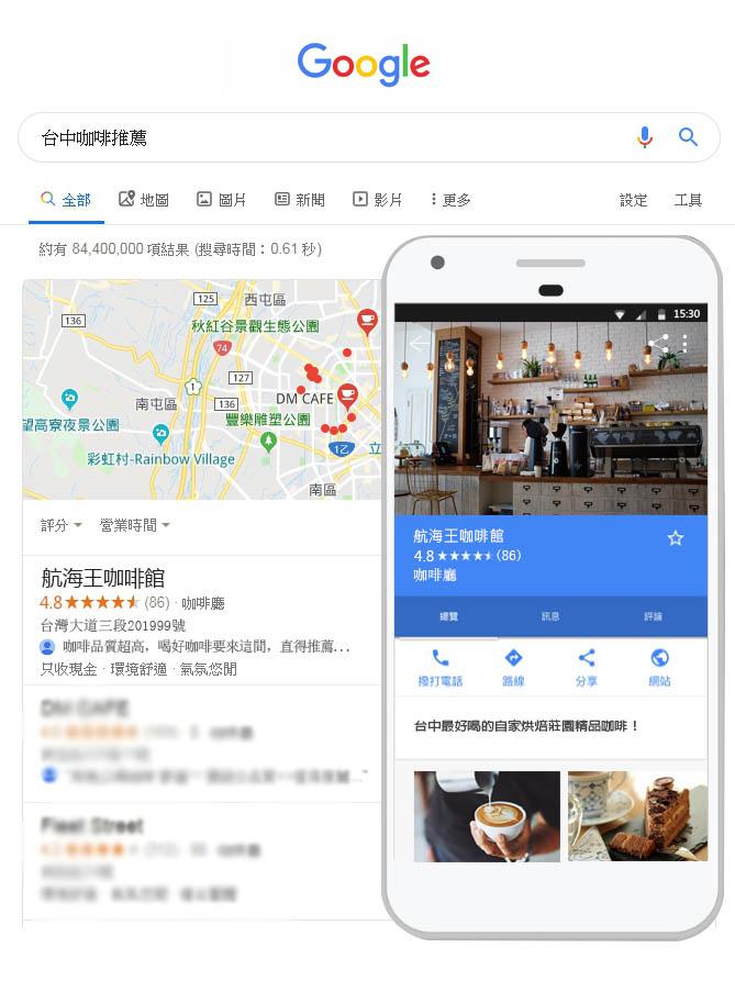 Google商家曝光, LINE官方帳號2.0, 關鍵字排名